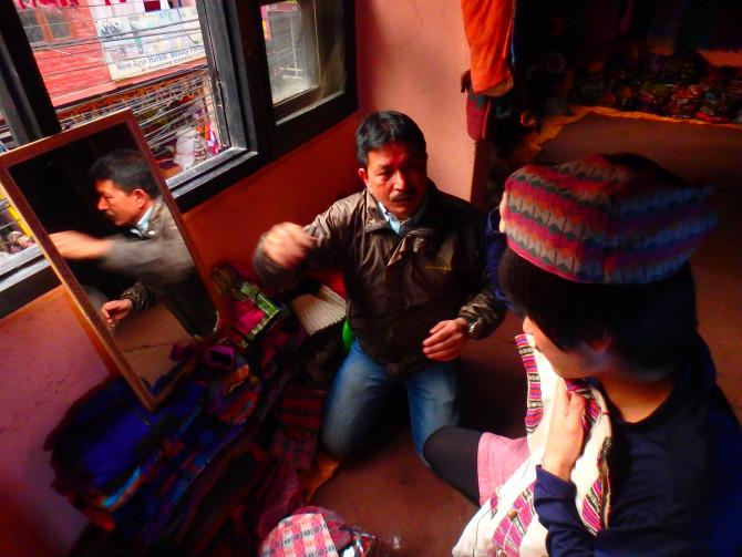 ネパール カトマンズ 帽子屋