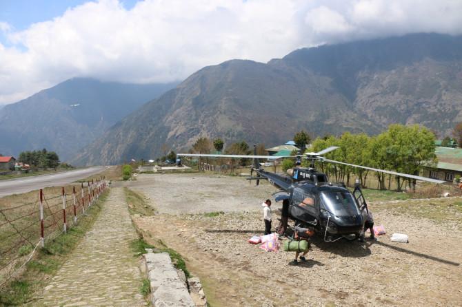 ネパール ルクラ ヘリ