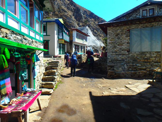 ネパール ナムチェ 道
