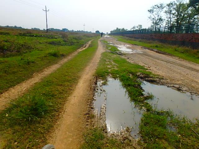 ネパール ルンビニ 道