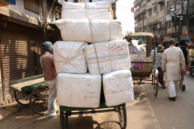 インド バラナシ 荷台