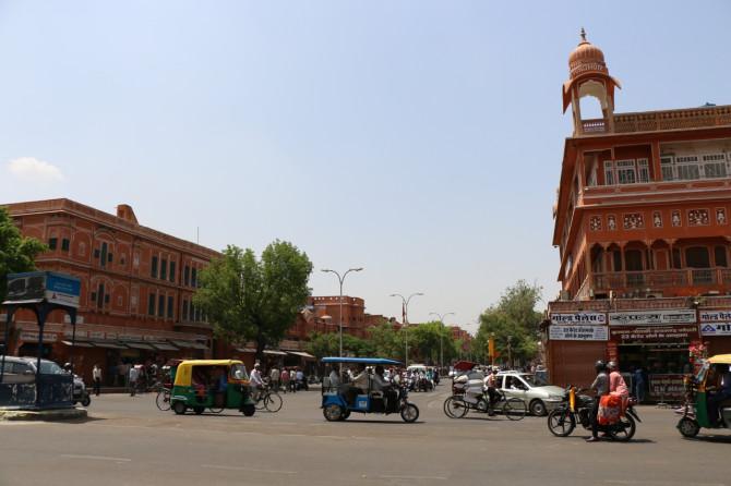 インド ジャイプル 町