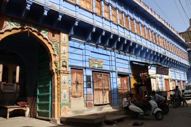 インド ジョードプル 青い建物①