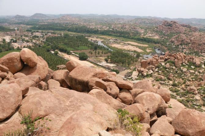 インド ハンピ 景色