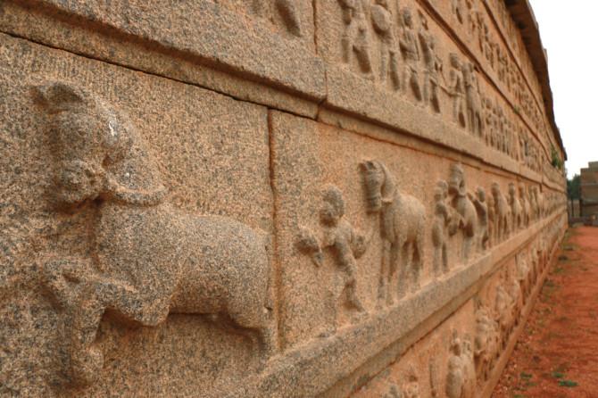 インド ハンピ ハザーララーマ寺院③