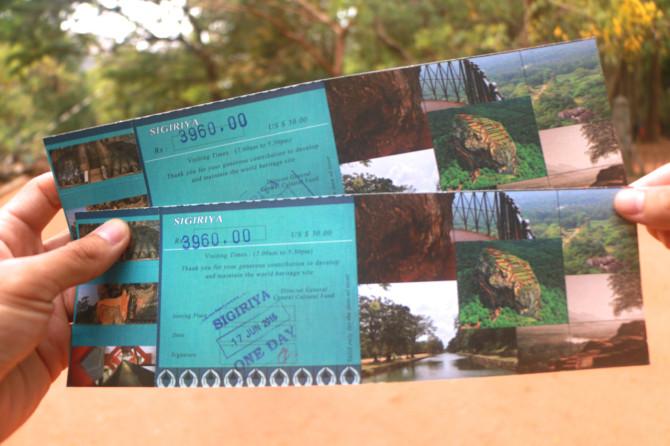 スリランカ シーギリヤ チケット