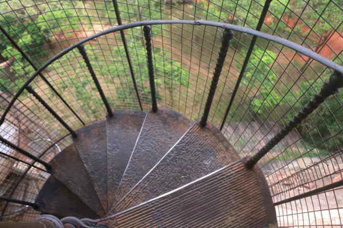 スリランカ シーギリヤ 螺旋階段