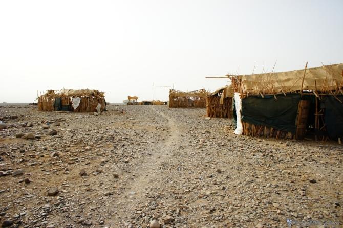 ダナキル 塩湖の拠点の村 灼熱