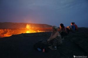 ダナキルでアルタアレ火山の火口