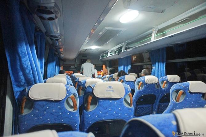 メケレからアディスアベバに行くセラームバス