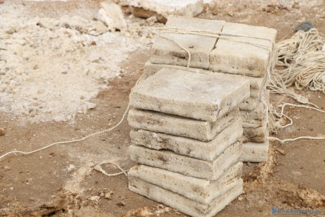 ダナキルにある塩の採掘場を見学