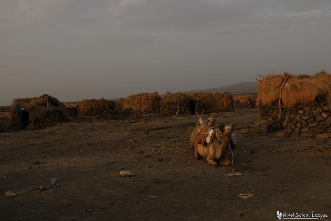 ダナキルでアルタアレ火山に向かう途中の村