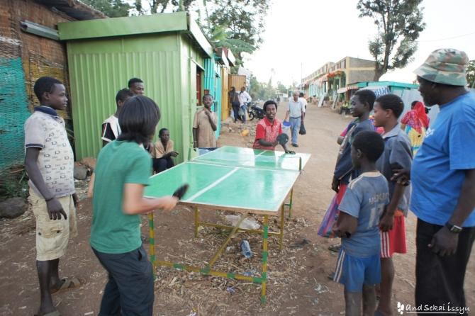 野外卓球場