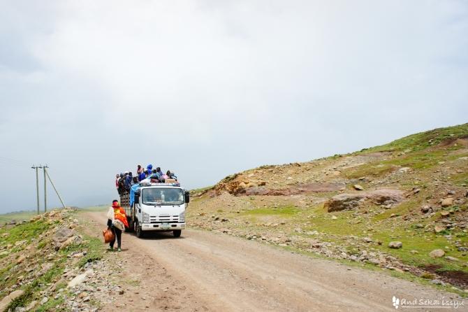 シミエン国立公園のトラック