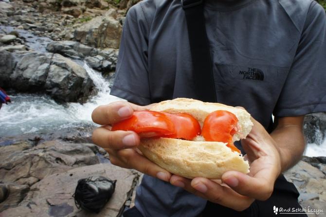 シミエン国立公園での昼食