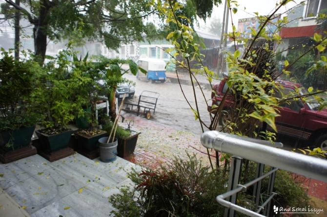 ゴンダール 雨