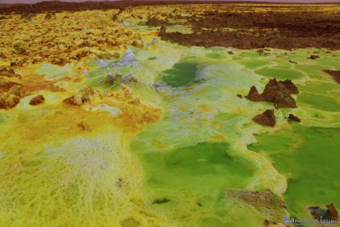ダナキルのダロール火山の風景