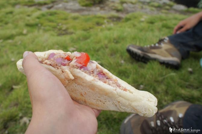 シミエン国立公園で休憩