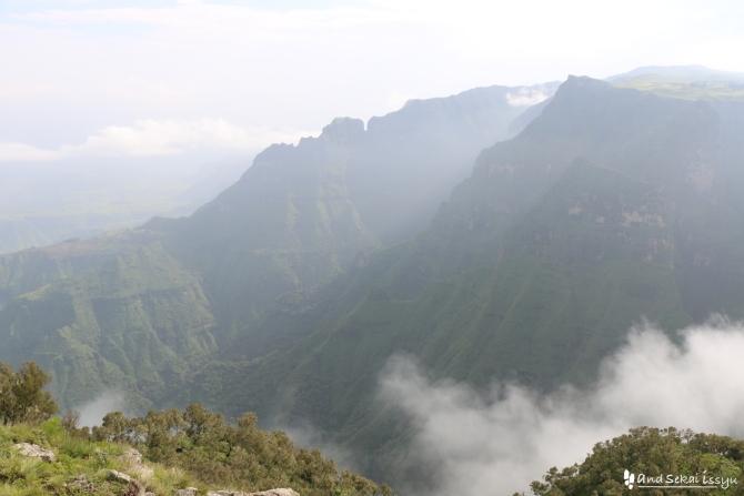 シミエン国立公園の景色