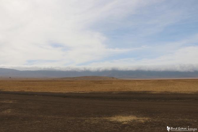 ンゴロンゴロ自然保護区の雲