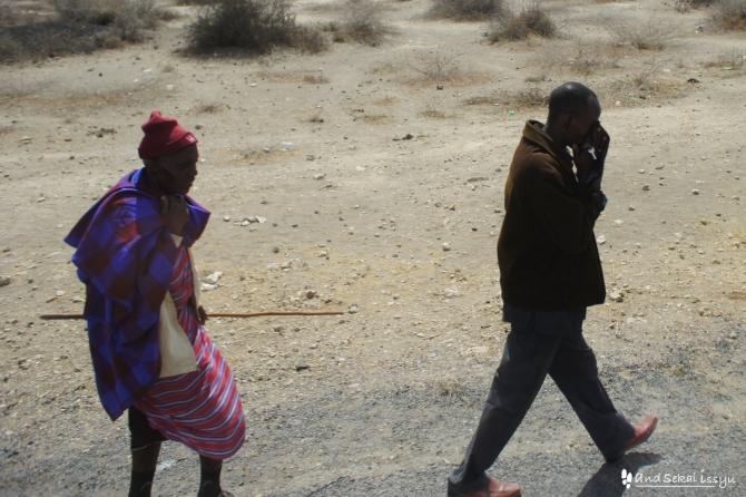 街を歩けばマサイ族