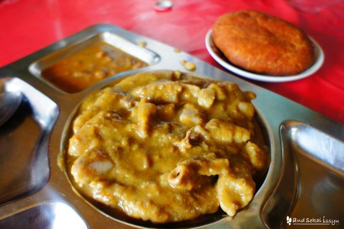 ンディジというバナナの煮込み料理