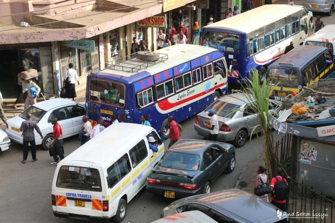 ナイロビにあるニューケニアロッジからみた街並み