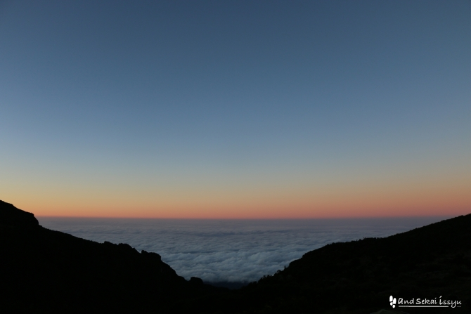 バランコキャンプからの雲海
