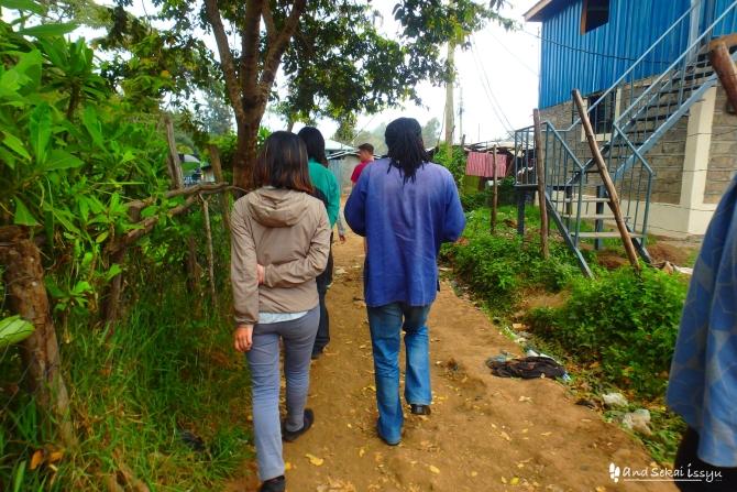 ナイロビのスラム街、キベラへ見学に行った