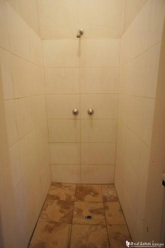 リビングストンの宿(ホテル)のシャワー