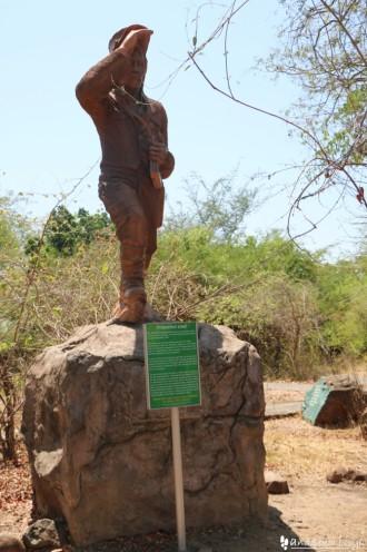 ビクトリアの滝(ザンビア)の像