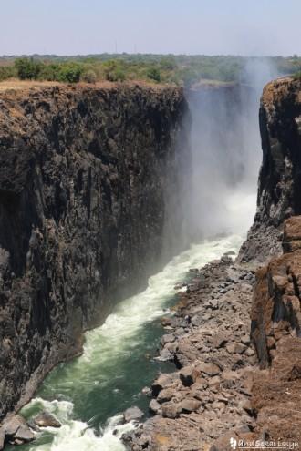 ビクトリアの滝(ザンビア)の川