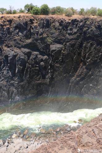 ビクトリアの滝(ザンビア)の虹