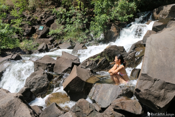 ビクトリアの滝(ザンビア)のゆきさん