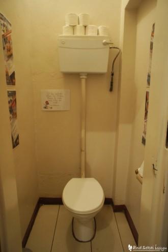 リビングストンの宿(ホテル)のトイレ