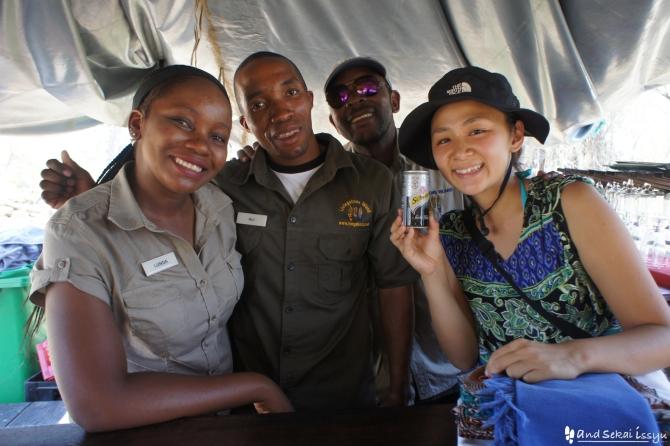 ビクトリアの滝(ザンビア)で出会ったザンビア人