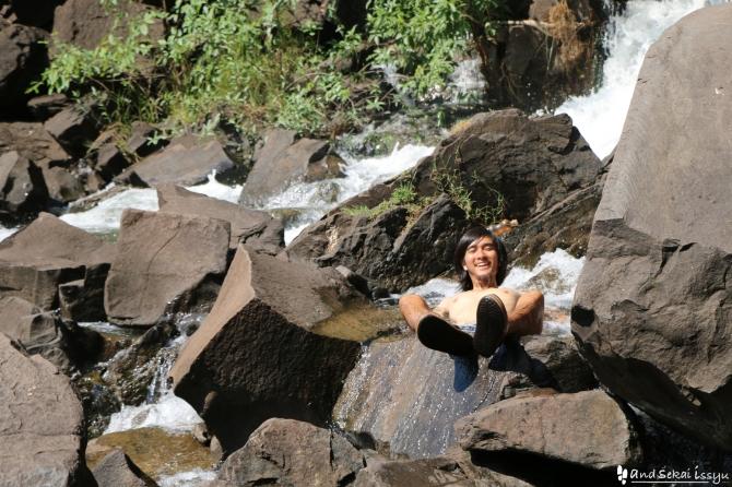 ビクトリアの滝(ザンビア)の僕
