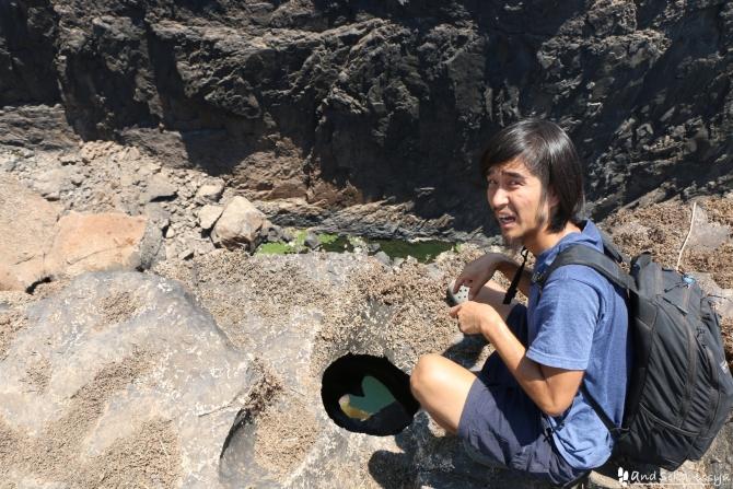 ビクトリアの滝(ザンビア)の穴