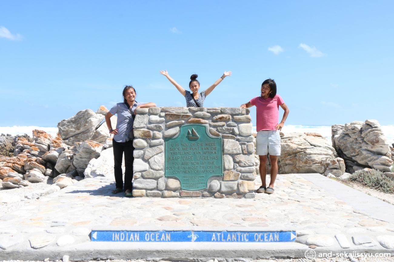 アグラス岬で記念撮影