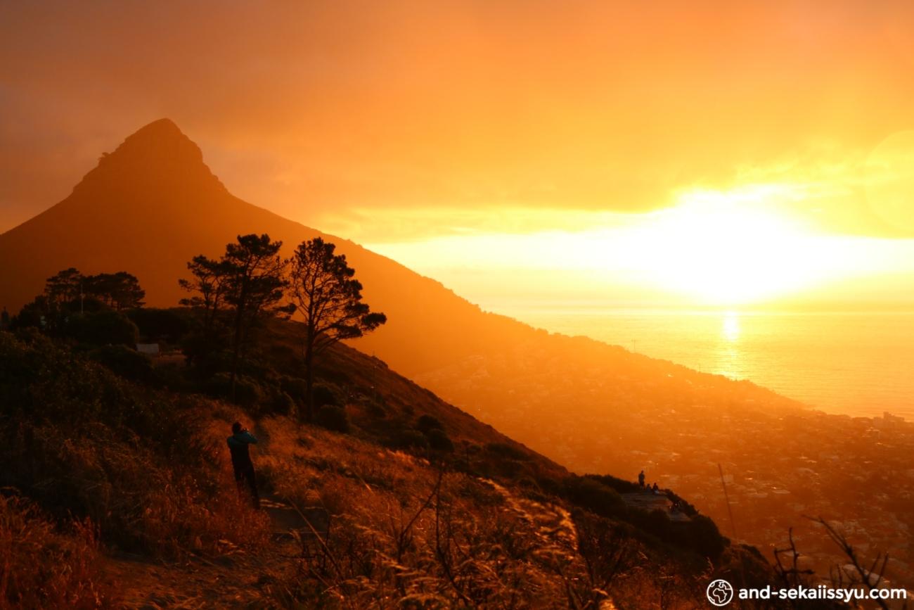 シグナルヒルで見た夕日