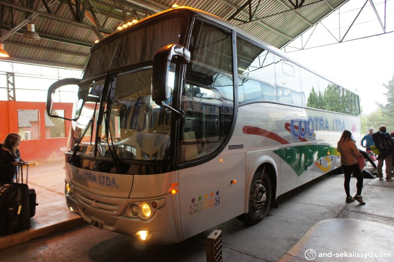 エルカラファテからプエルトナタレスへのバス