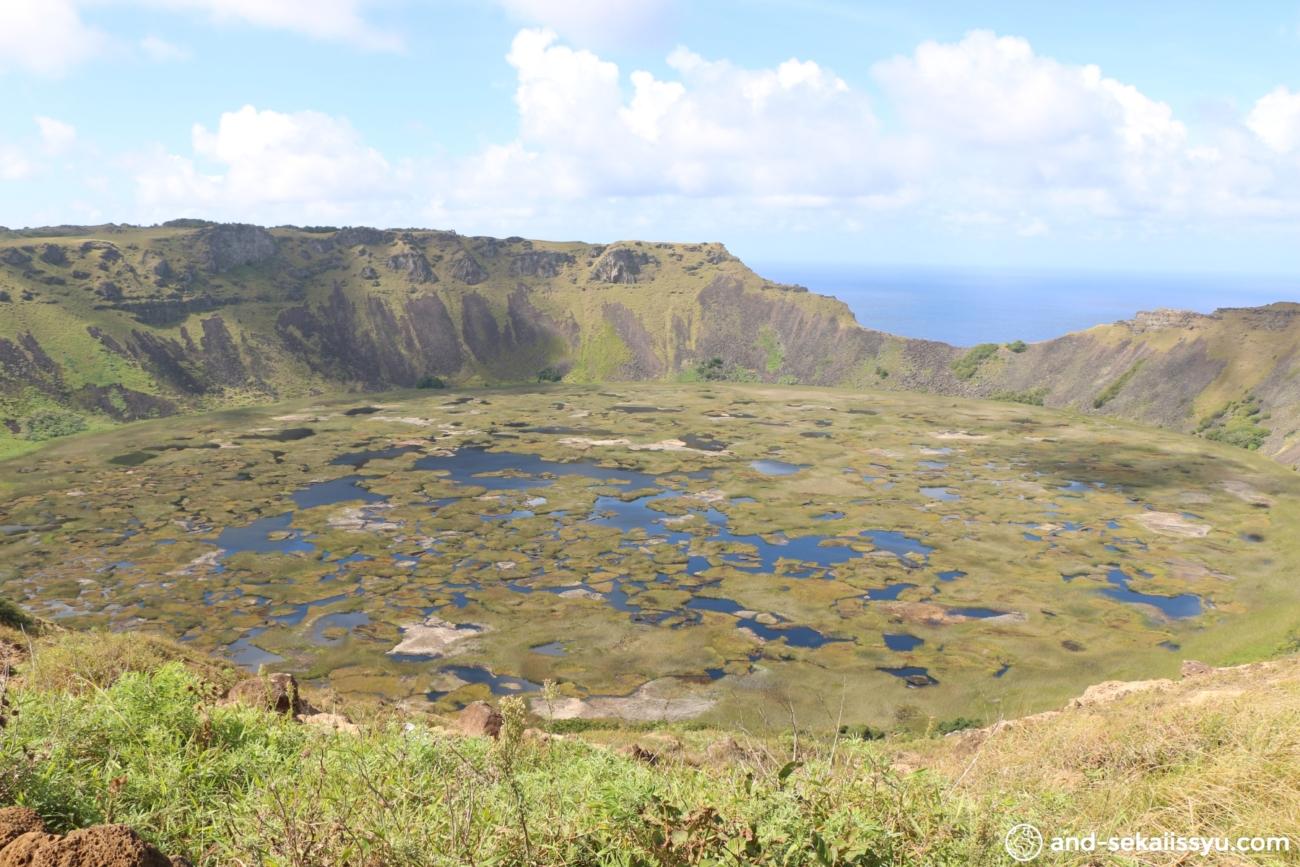 イースター島のラノカウ火山