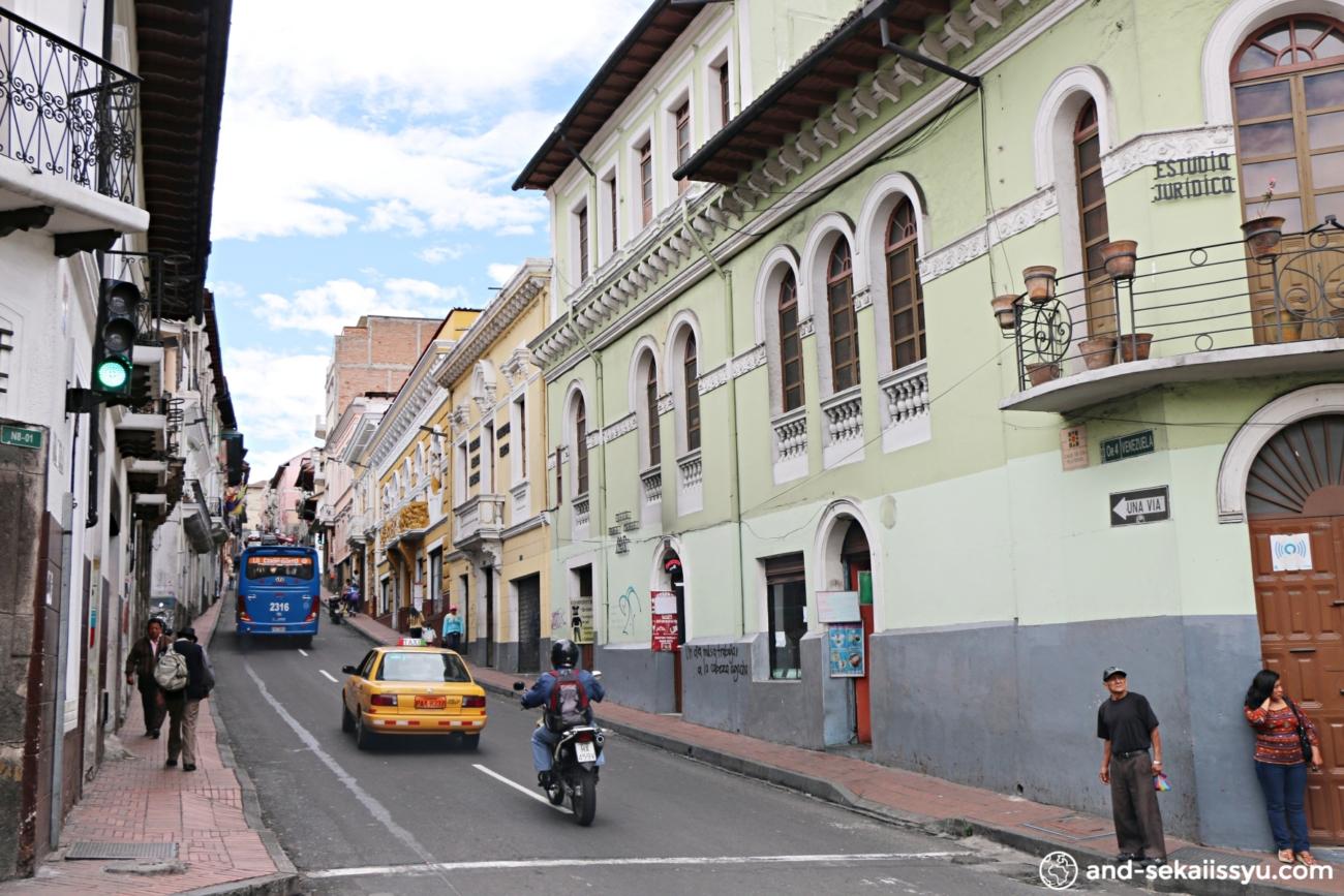 キト旧市街の街並み