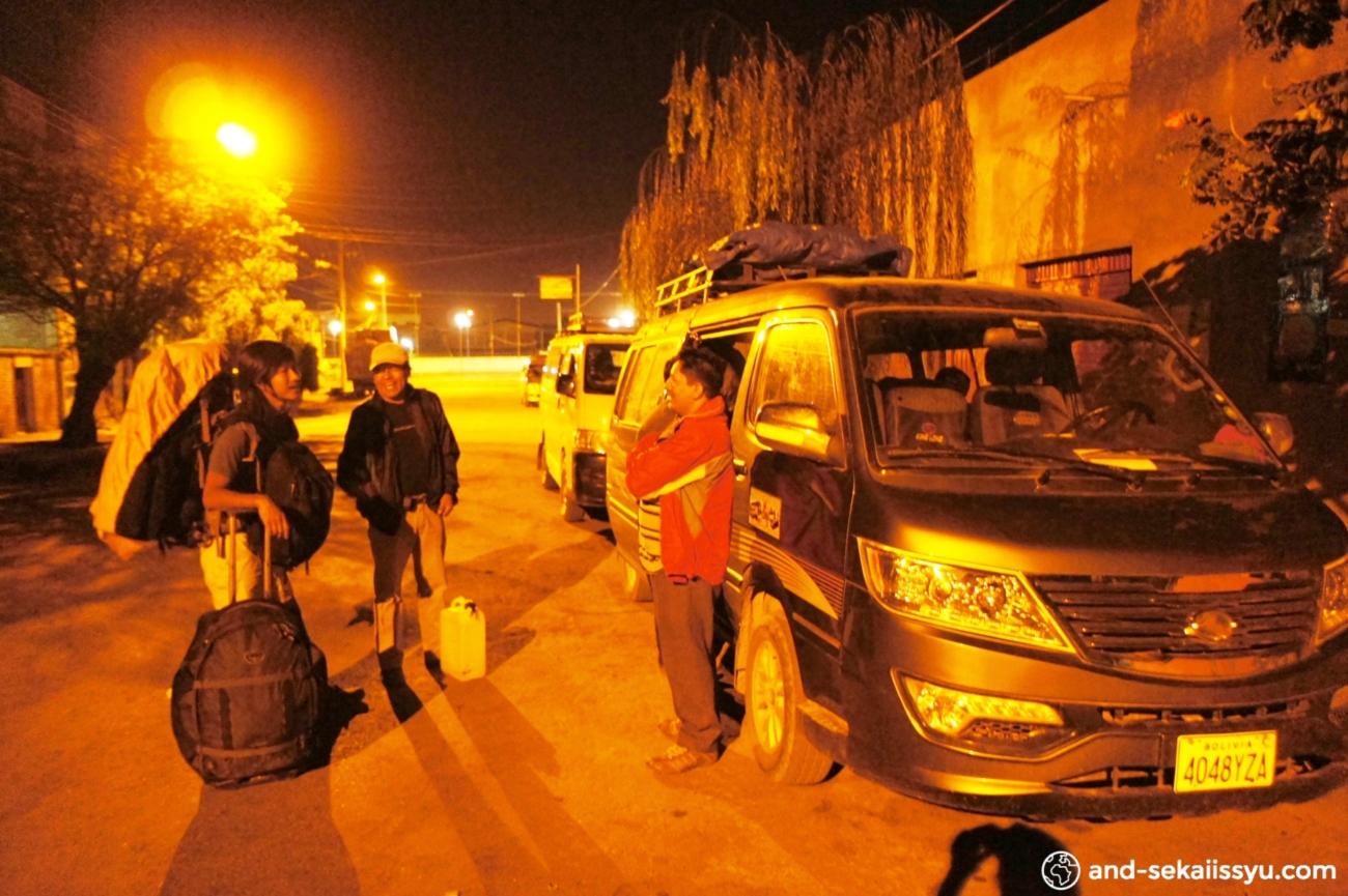 コチャバンバからトロトロに乗り合いバスで移動