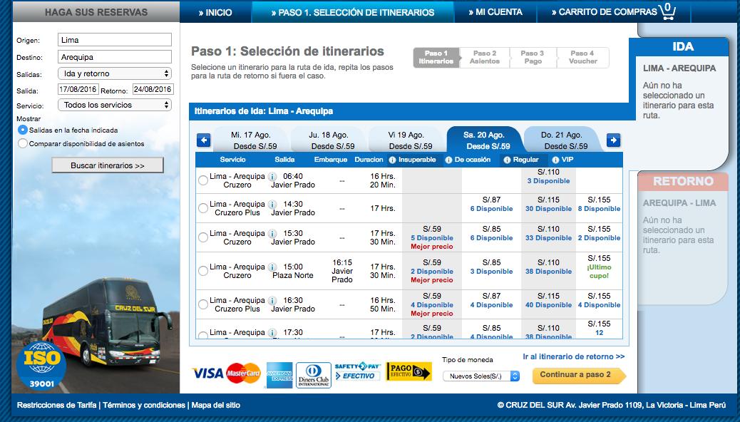 ペルーでバスを使うなら、ネットで予約を取るのが、お得‼︎|OLTURSA、Curz del Surなど
