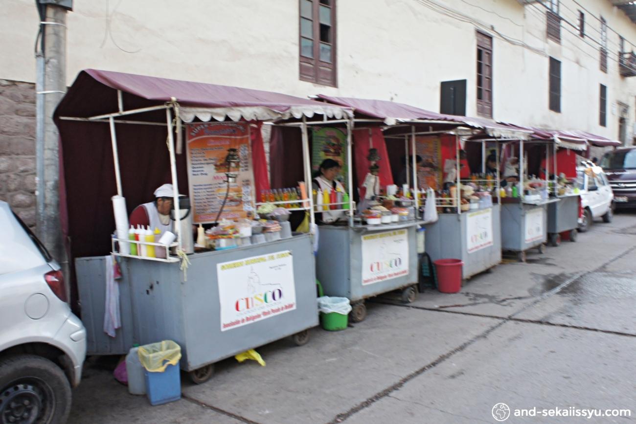 クスコのハンバーガー屋