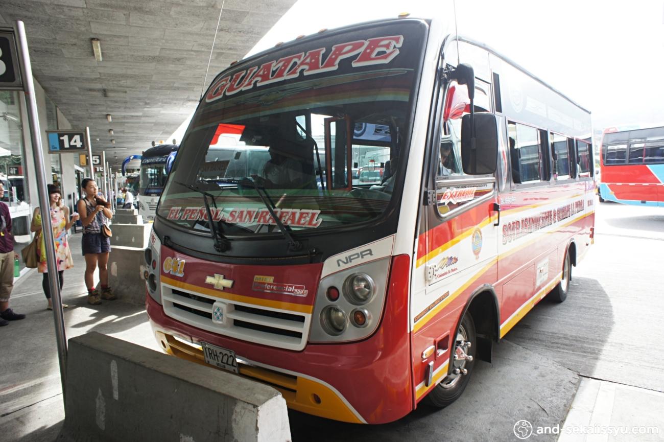 ラ・ピエドラ・デル・ペニョールへのバス