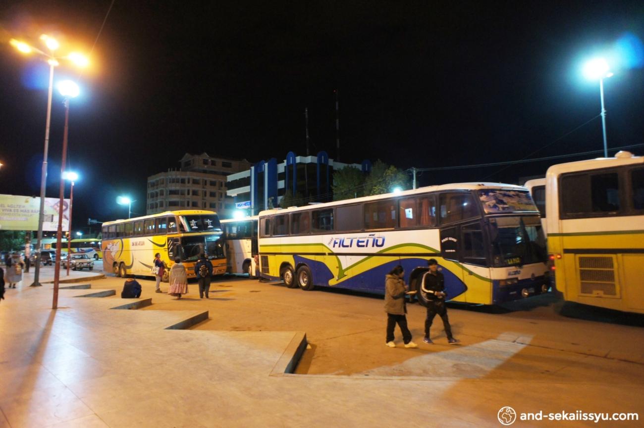 ウユニからボリビア第三の都市、コチャバンバにバスで移動