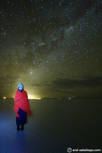 ウユニ塩湖のスターライトツアー