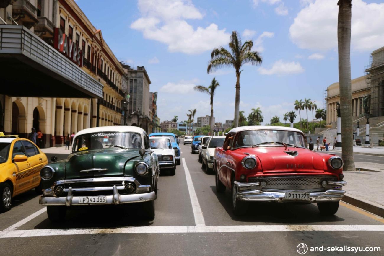 ハバナ|クラシックカーと古い町並みとチェ・ゲバラにうっとり‼︎お土産にオススメのラム酒情報あり‼︎